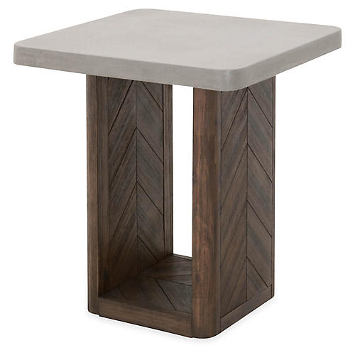 Apex Side Table, Slate Gray