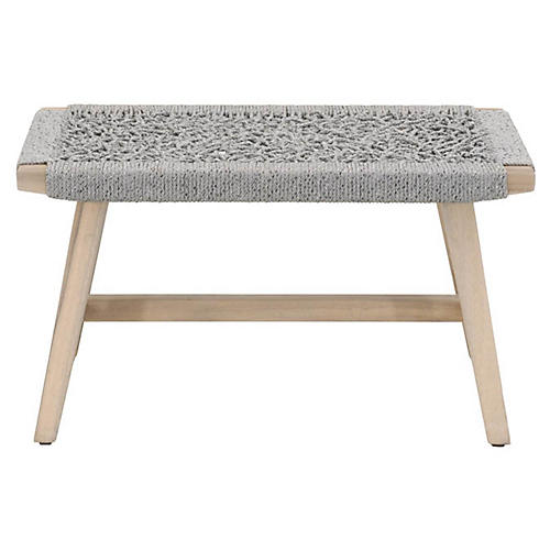 Weave Outdoor Accent Stool, Gray