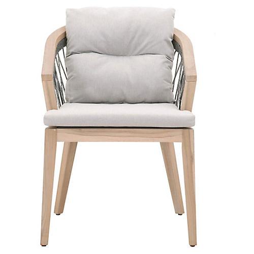 Web Outdoor Armchair, Gray