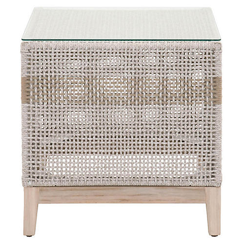 Tapestry Outdoor Side Table, Gray