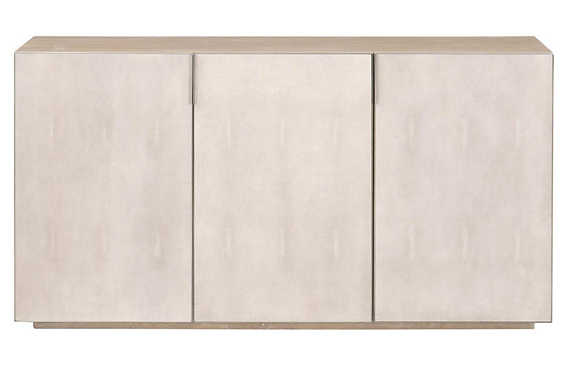 Lisette Media Console, Natural Gray