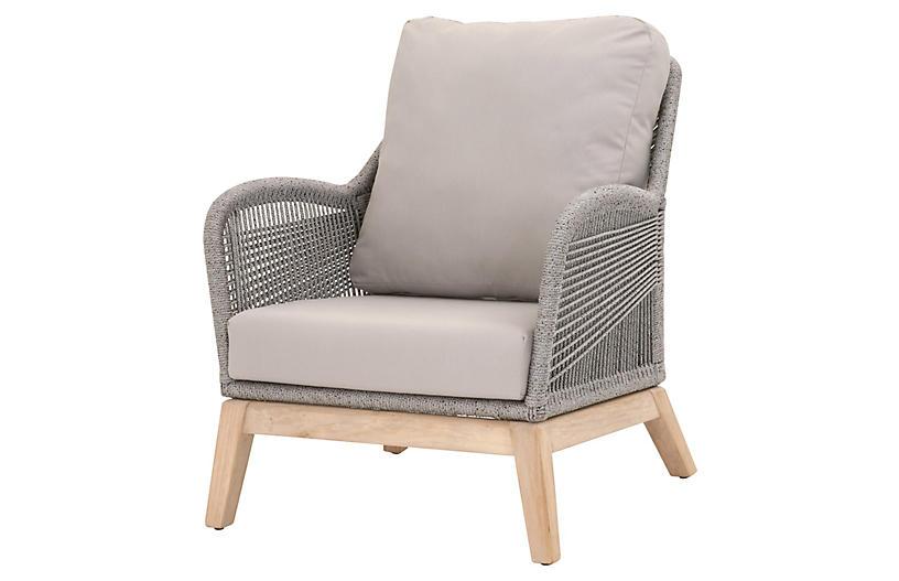 Easton Outdoor Rope Club Chair, Platinum
