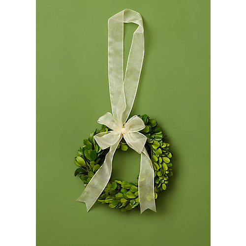"6"" Prancer Preserved Wreath, Green"