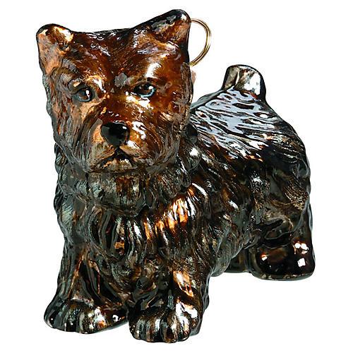 Cairn Terrier Ornament, Black/Brown