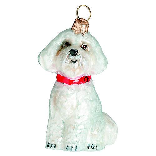 Bichon Frise Ornament, White