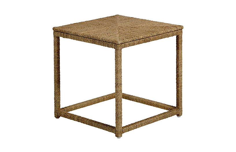 Wells Side Table, Natural Seagrass