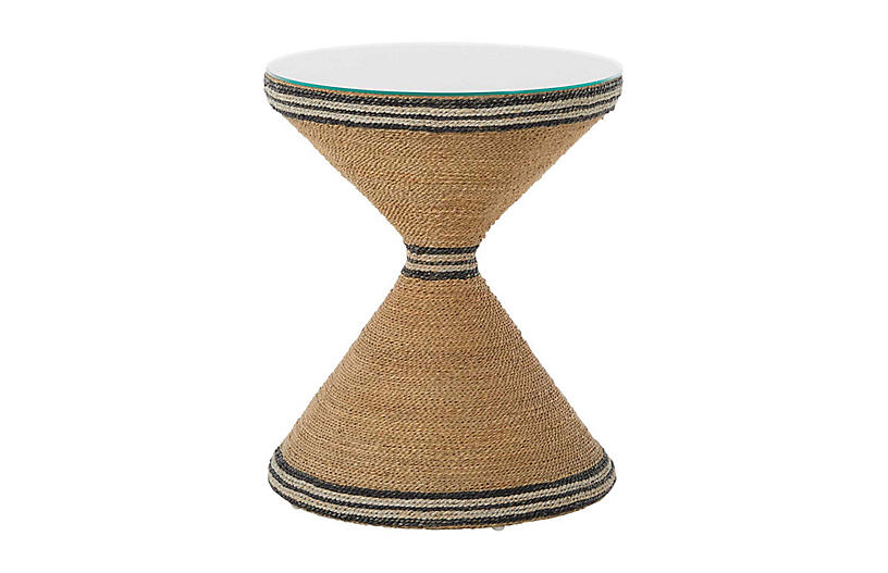 Redfield Side Table, Natural Seagrass