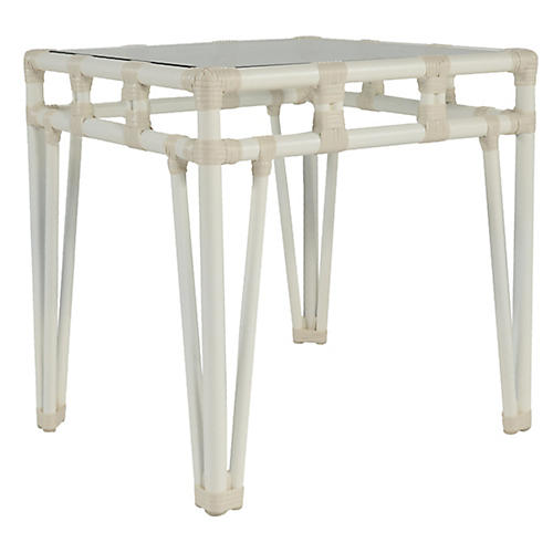 Nantucket Outdoor Side Table, White