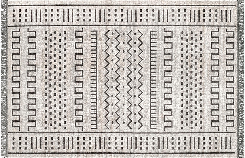 Cora Outdoor Rug, Light Gray