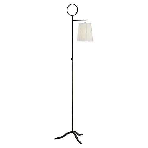London Vase Table Lamp, Teal Green Glaze