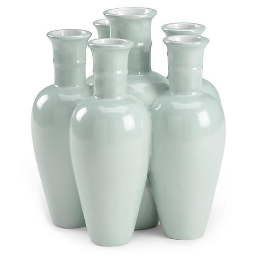 """10"""" Cluster Vase, Celadon"""