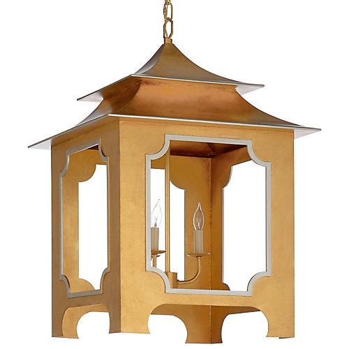 Pagoda Lantern, Gold Leaf/Silver