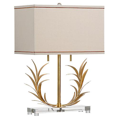 Laurel Table Lamp, Antiqued Gold