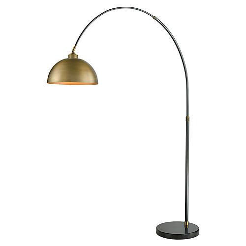 Magnus Floor Lamp, Aged Brass