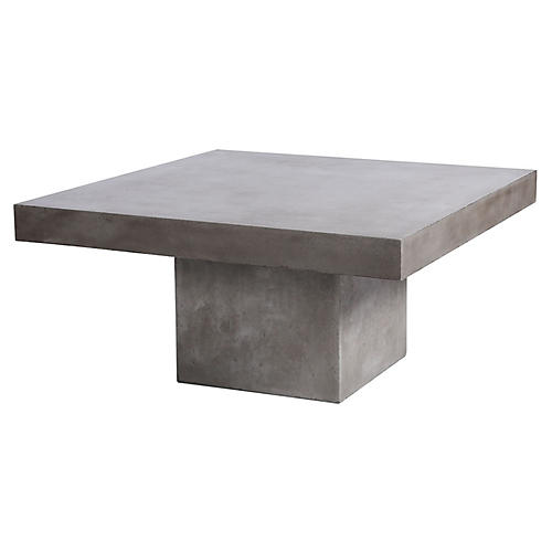 Millfield Concrete Coffee Table, Gray