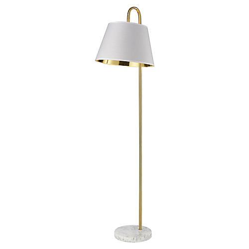 Vance Floor Lamp, Aged Brass
