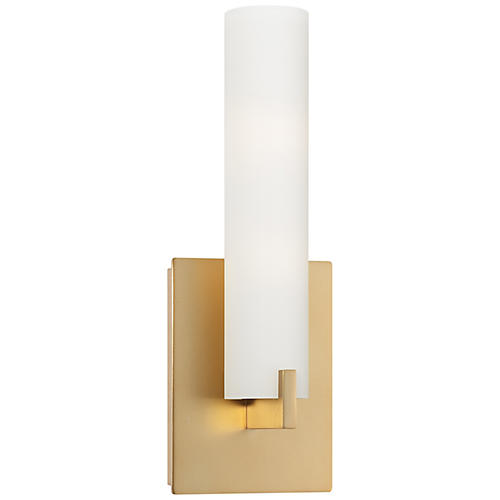 Tube LED Sconce, Honey Gold