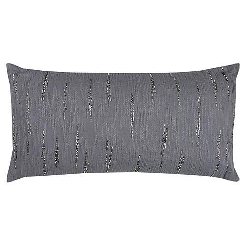 Nova 14x26 Lumbar Pillow, Silver