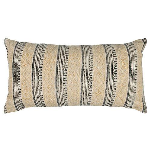 Haven 14x26 Lumbar Pillow, Yellow/Blue