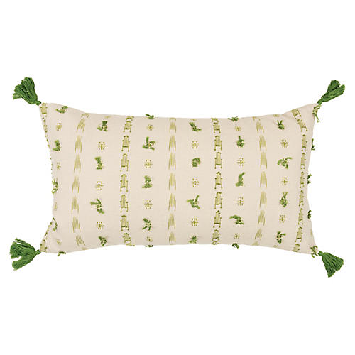 Diana 26x14 Lumbar Pillow, Green