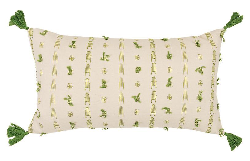 Diana 26x14 Lumbar Pillow, Green