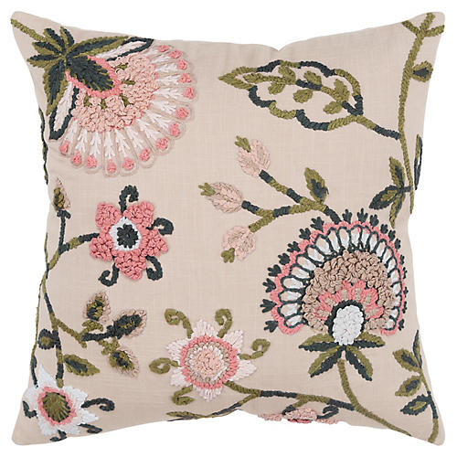 Lana 20x20 Pillow, Beige