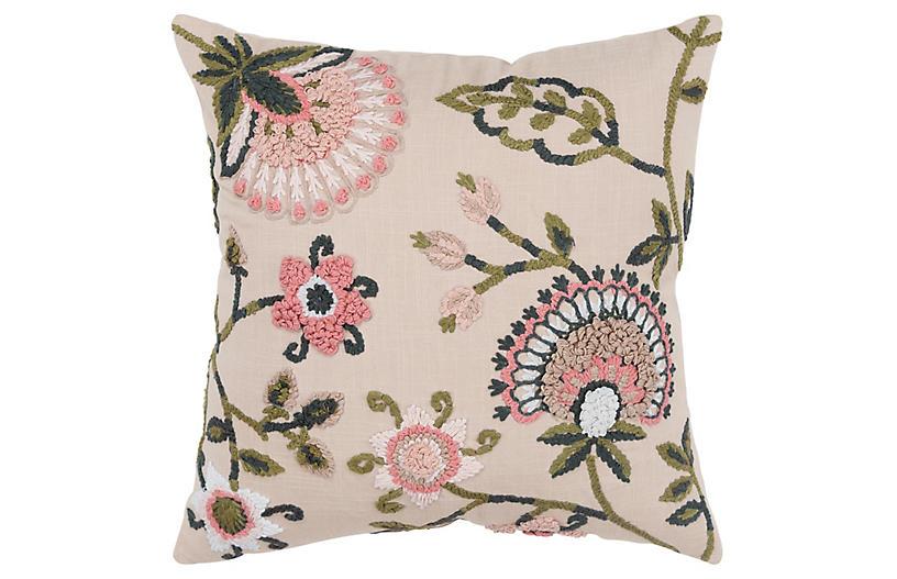 Lana 20x20 Pillow, Beige