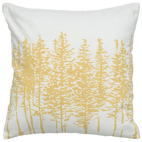 Tannen 18x18 Holiday Pillow, Yellow/White