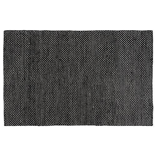 Desmond Flat-Weave Rug, Black