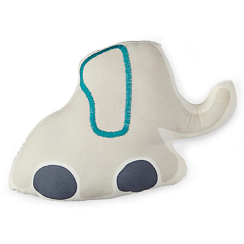 Pull Toys Elephant Stuffed Pillow, Gray