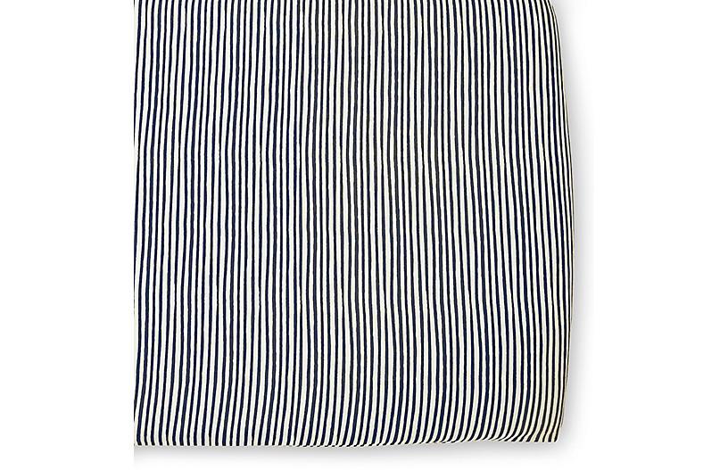 Stripes Away Crib Sheet, Ink