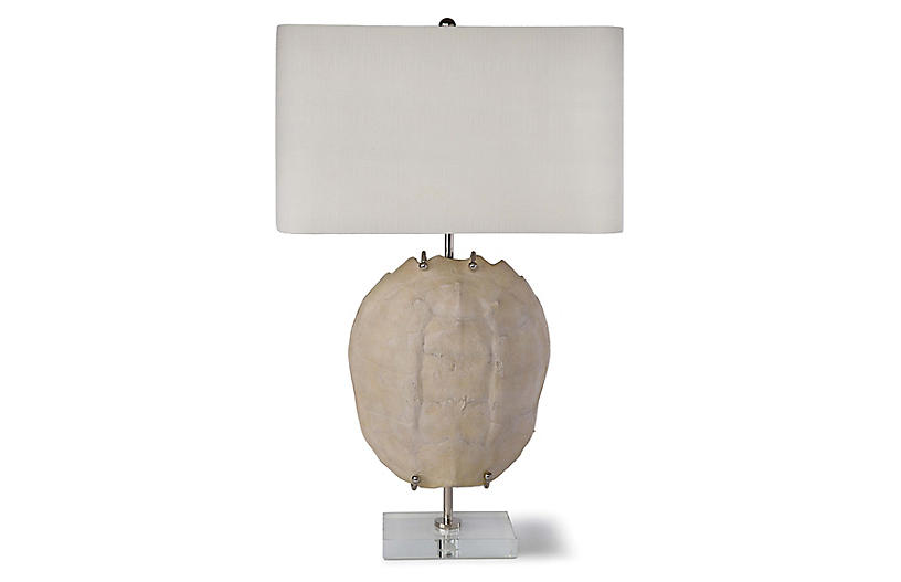 Exhibit Turtle Shell Table Lamp, Bleach