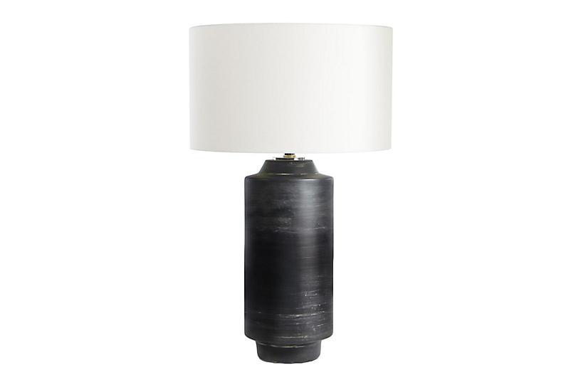 Dayton Ceramic Table Lamp, Ebony