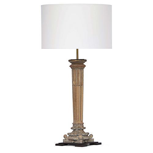 Reuben Table Lamp, Natural