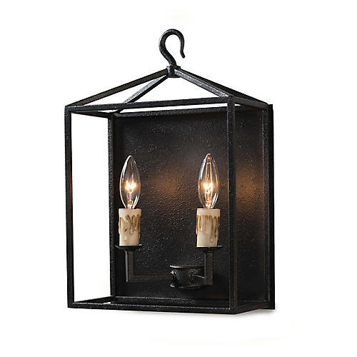 Cape Sconce, Blackened Iron