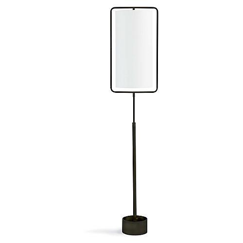 Geo Rectangle Floor Lamp, Bronze