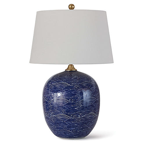 Harbor Table Lamp, Blue