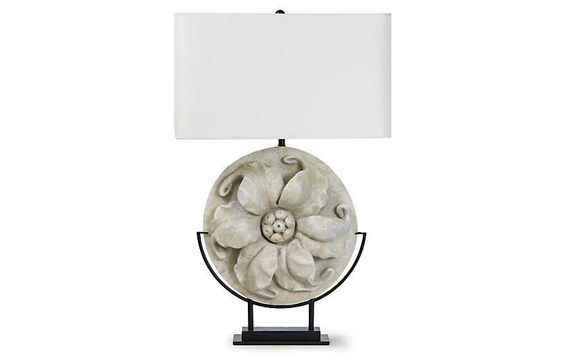 London Table Lamp, White