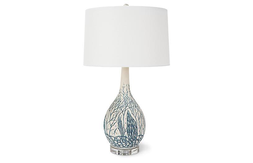 Camile Table Lamp, Blue