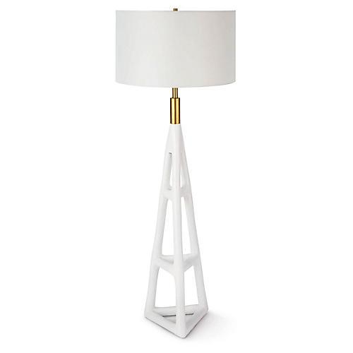 Tanner Floor Lamp, White
