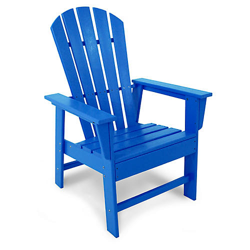 South Beach Adirondack Armchair, Pacific Blue