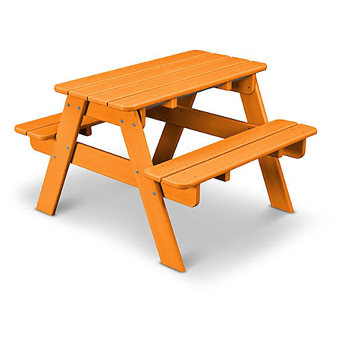 Kids' Picnic Table, Tangerine