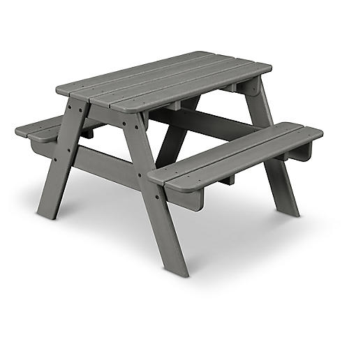 Kids' Picnic Table, Slate Gray