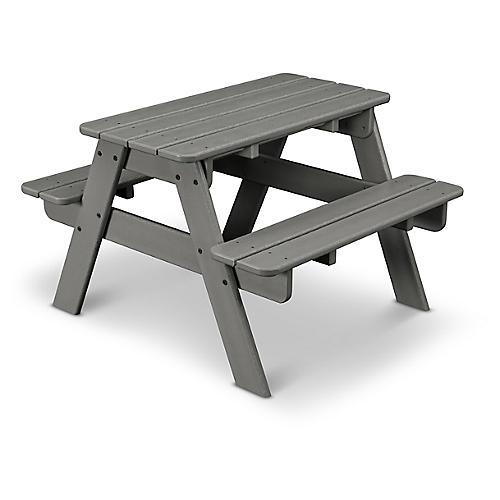Kids' Picnic Table, Slate Gray