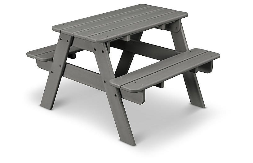 Awesome Kids Picnic Table Slate Gray Download Free Architecture Designs Scobabritishbridgeorg