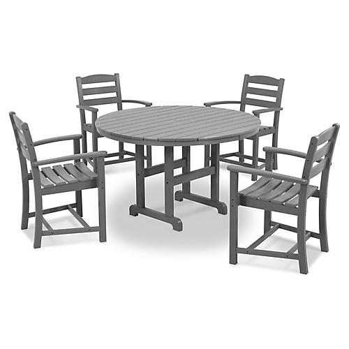La Casa Café 5-Pc Dining Set, Slate Gray