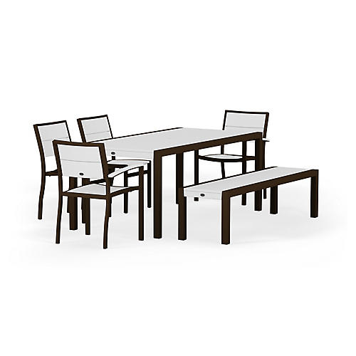 Metro 6-Pc Dining Set, White