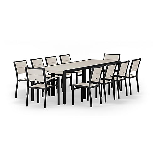 Metro 12-Pc Large Dining Set, Sand
