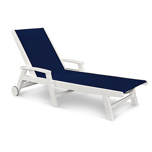 Coastal Chaise, Navy