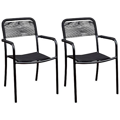 S/4 Oosterdam Armchairs, Black